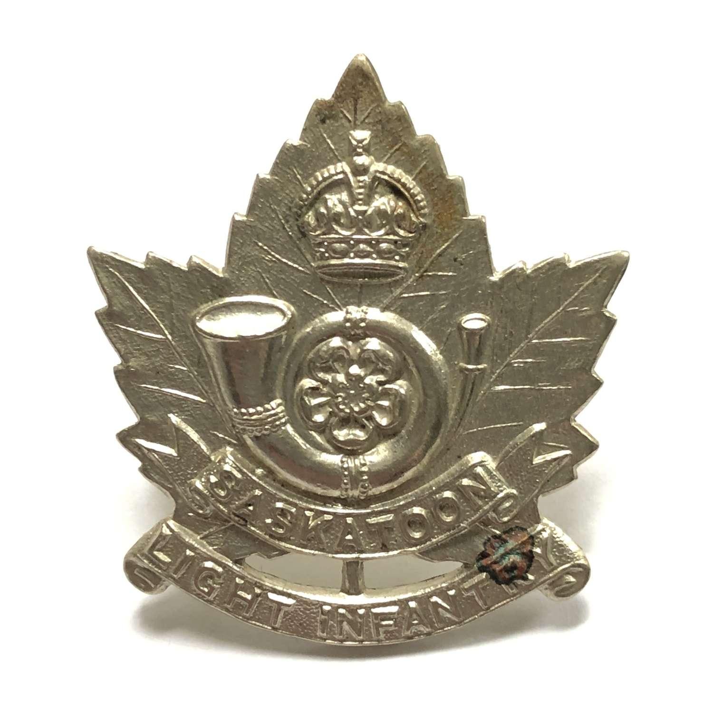 Canadian Saskatoon Light Infantry WW2 cap badge