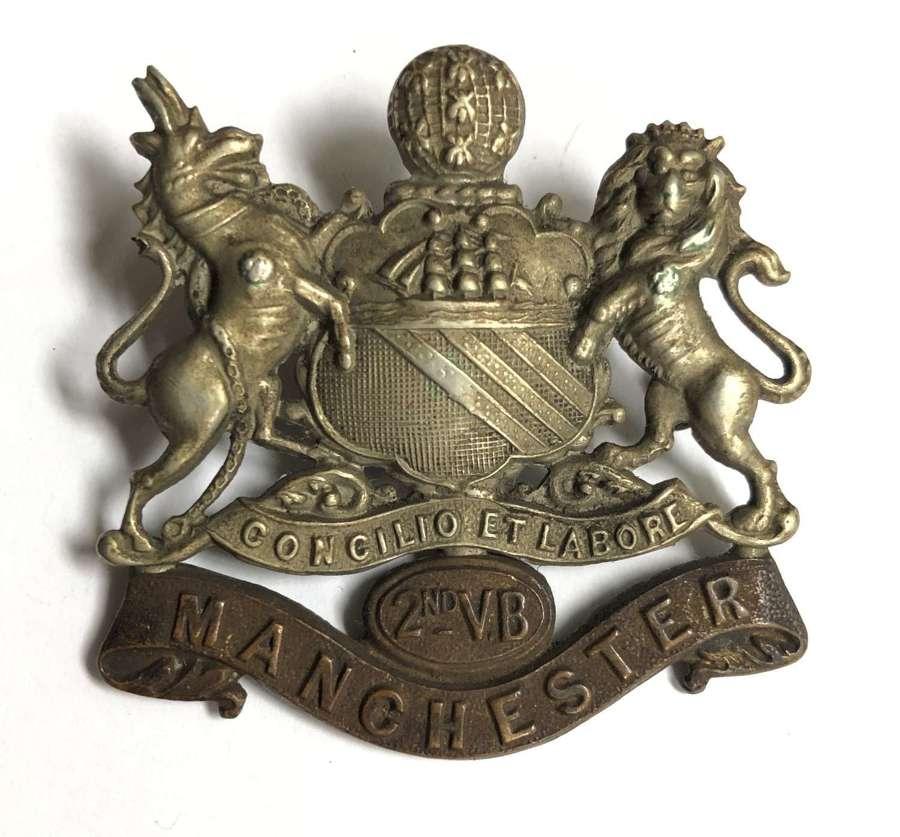 2nd VB Manchester Regiment cap badge circa 1896-1908.