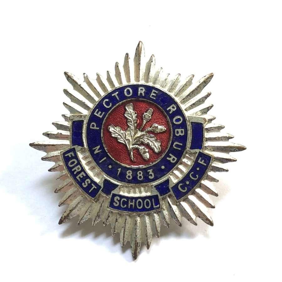 Forest School CCF, Walthamstow, London E17 enamelled cap badge