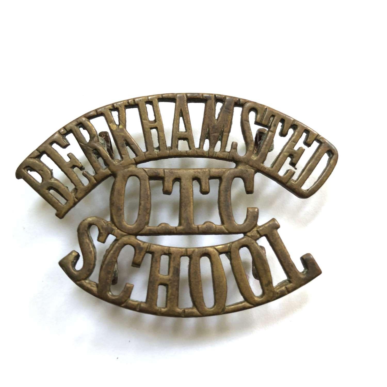 BERKHAMPSTED / OTC / SCHOOL Hertfordshire shoulder title