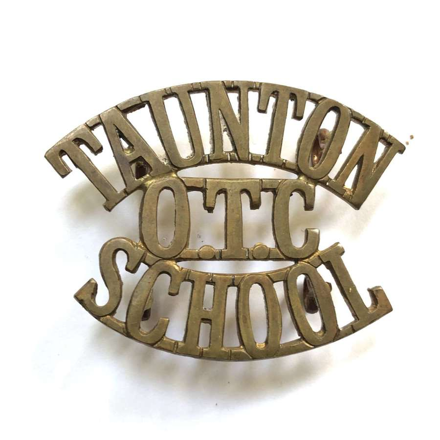 TAUNTON / OTC / SCHOOL Somerset shoulder title