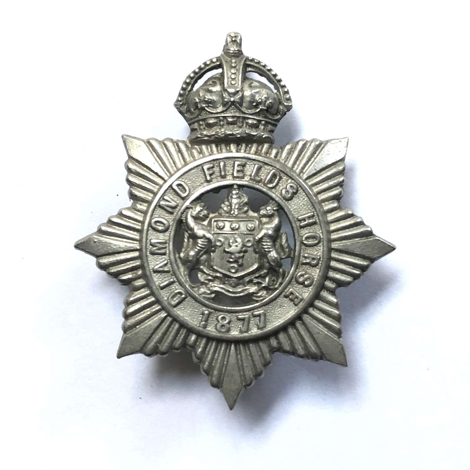 South Africa. Diamond Fields Horse slouch hat badge circa 1902-06