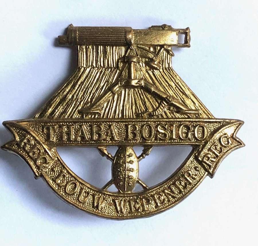 South Africa Louw Wepener Regiment cap badge circa 1934-40