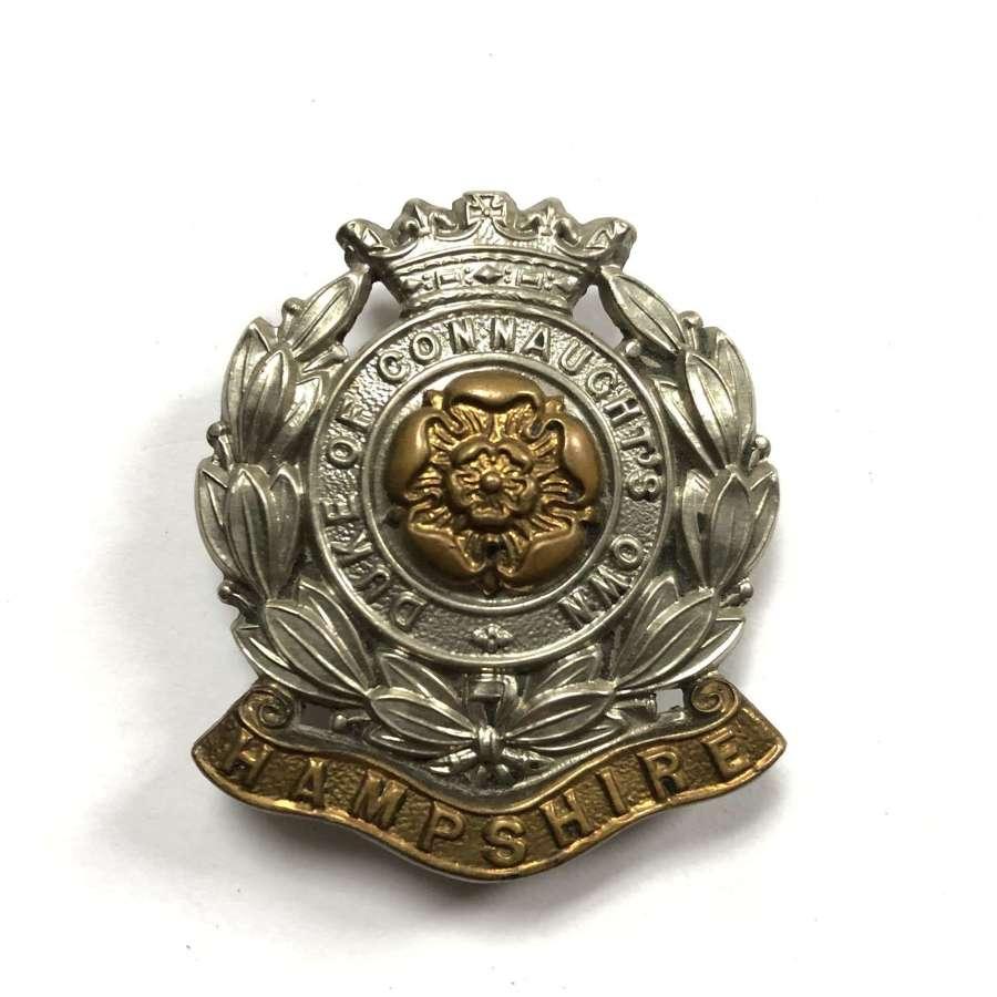 6th Bn. Hampshire Regiment cap badge circa 1908-38