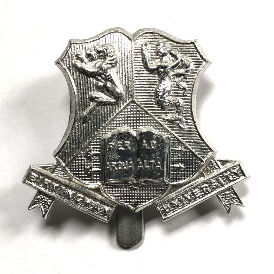 Birmingham University anodised cap badge by Timmings Ltd
