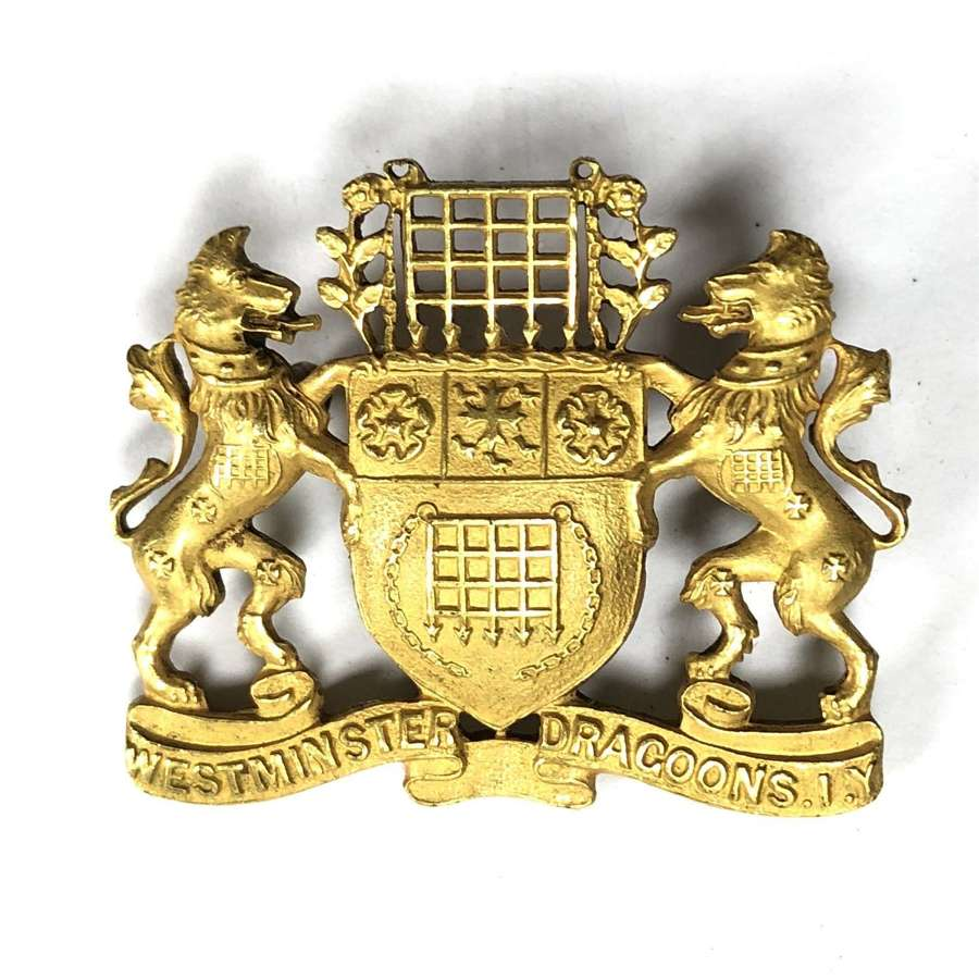 2nd County of London Imperial Yeomanry (Westminster Dgns) gilt badge