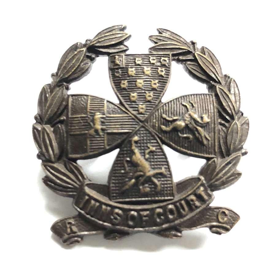 Inns of Court Volunteer Reserve Corps VTC WW1 cap badge