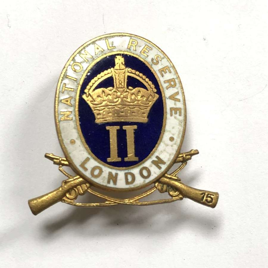 Camberwell London National Reserve enamel lapel badge by Gaunt