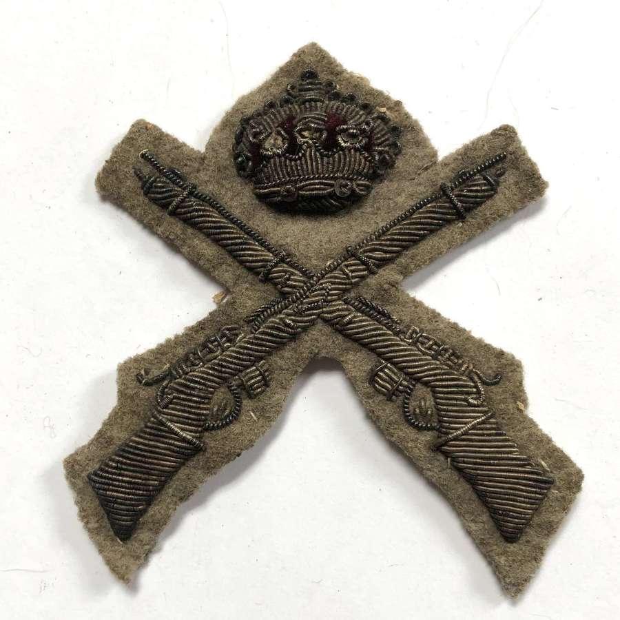 Rifle Volunteers Victorian marksman's bullion sleeve badge