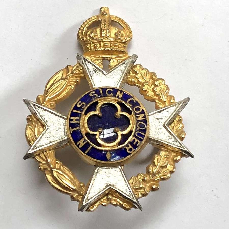 Royal Army Chaplain\'s Department cap badge circa 1940-52