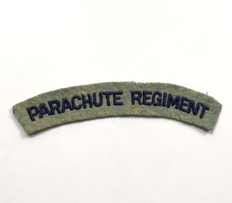PARACHUTE REGIMENT WW2  cloth embroidered shoulder title