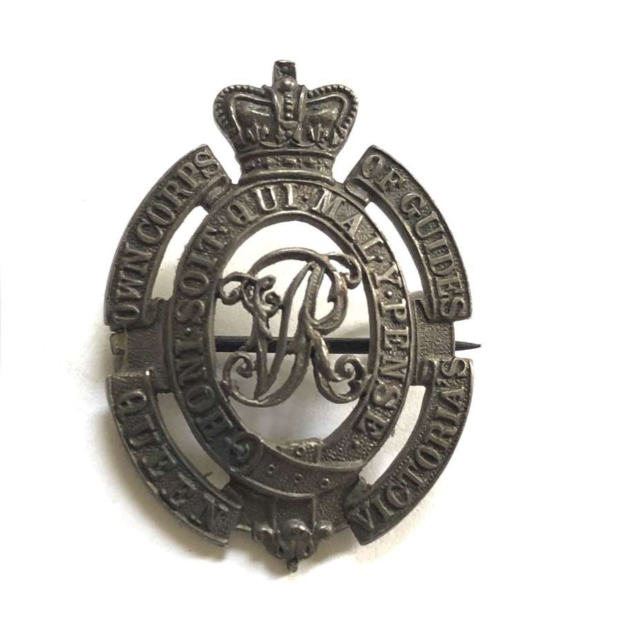 Queen Victoria's Own Corps of Guides (Lumden's) 1913 silver badge