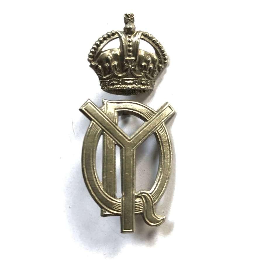 QO Dorset Yeomanry Edwardian two piece cap badge