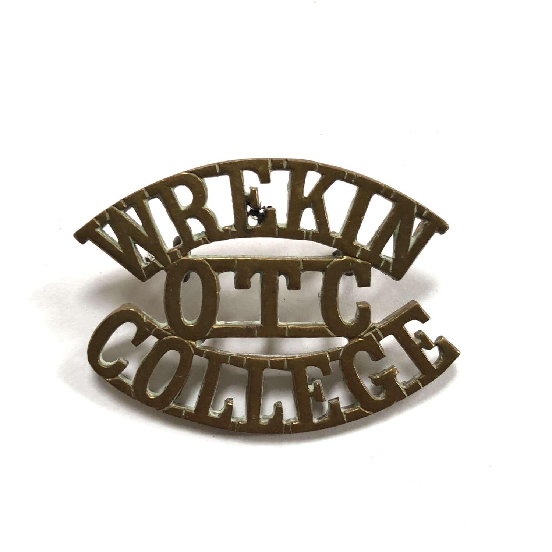 WREKIN  / OTC  / COLLEGE Shropshire shoulder title