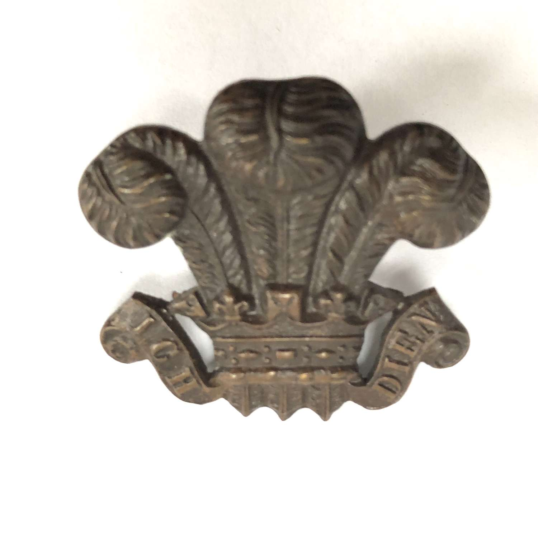 Denbighshire Yeomanry Welsh post 1902 cap badge