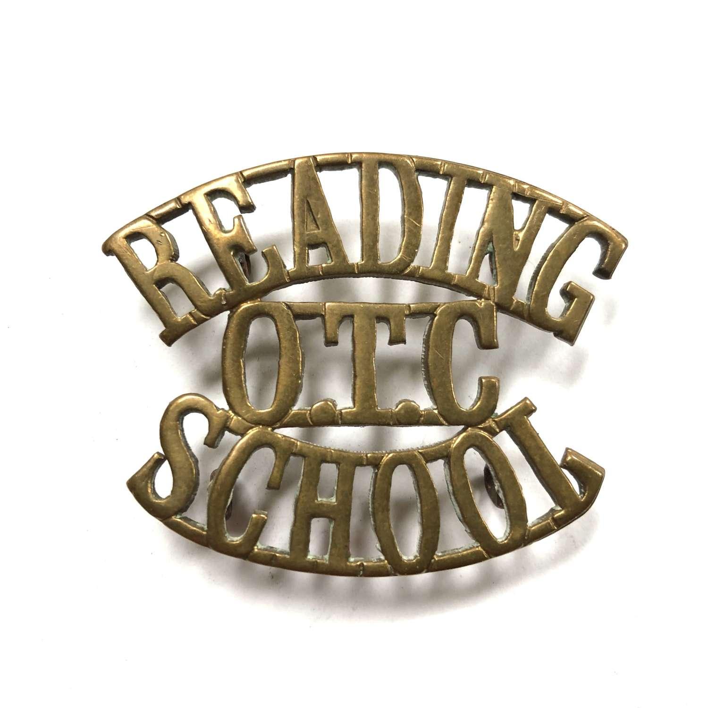 READING / OTC / SCHOOL Berkshire shouder title