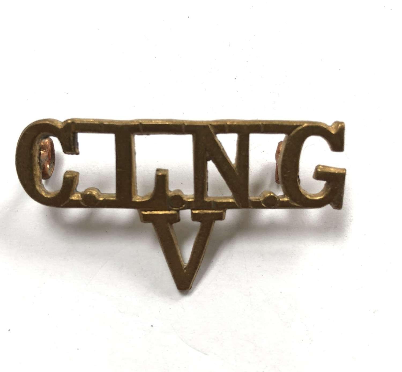 City of London National Guard VTC WW1 shoulder title
