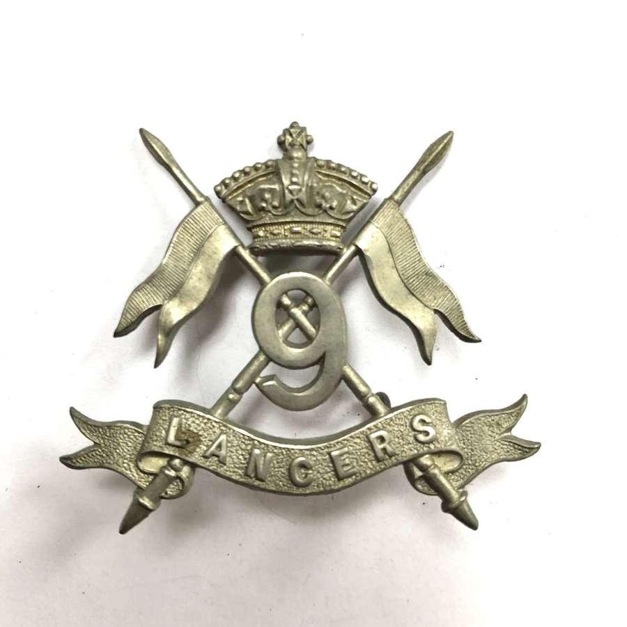 9th Queen's Royal Lancers Victorian cap badge circa 1896-1900