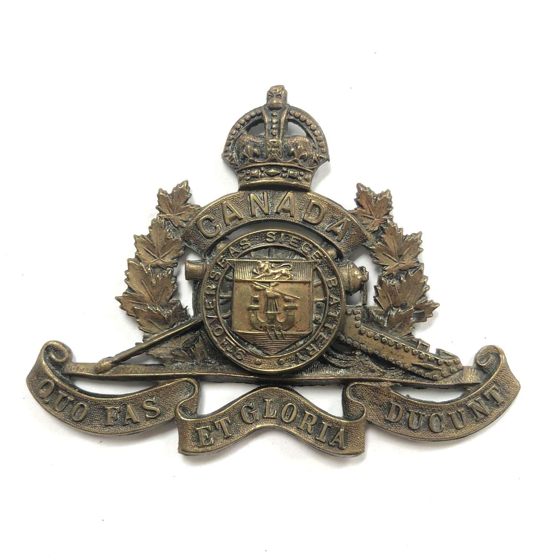 Canadian 9th Overseas Siege Battery WW1 CEF cap badge