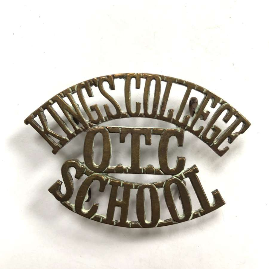 KING'S COLLEGE / OTC / SCHOOL Wimbledon shoulder title