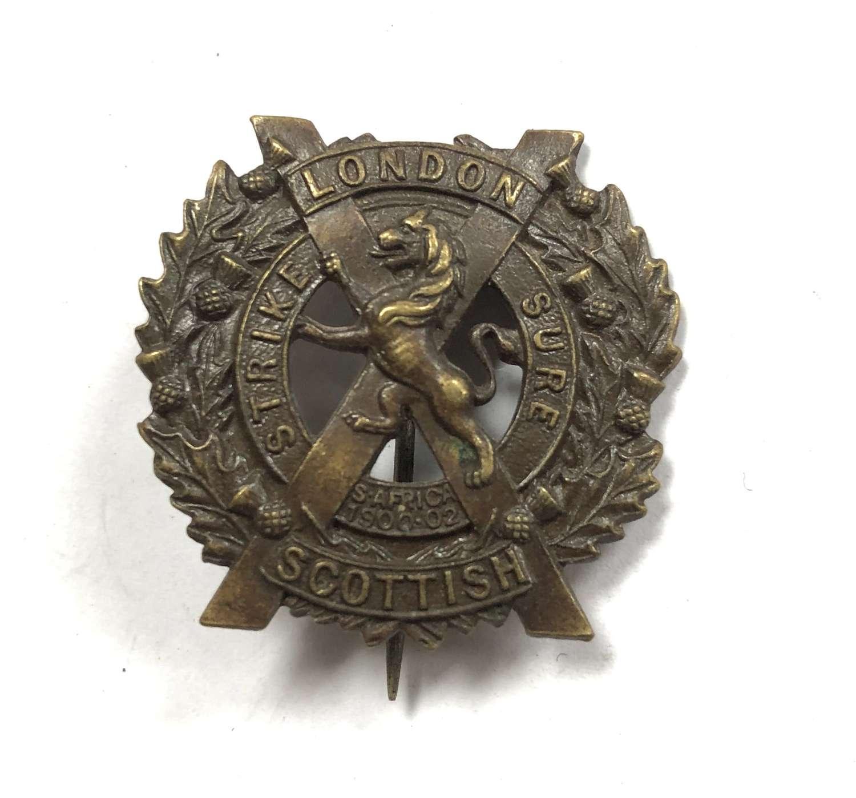 London Scottish 2nd Battalion WW1 pagri badge by JR Gaunt,London