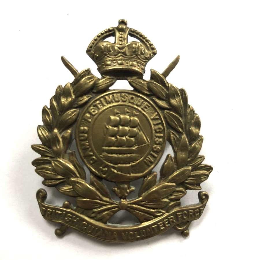 British Guiana Volunteer Force cap badge