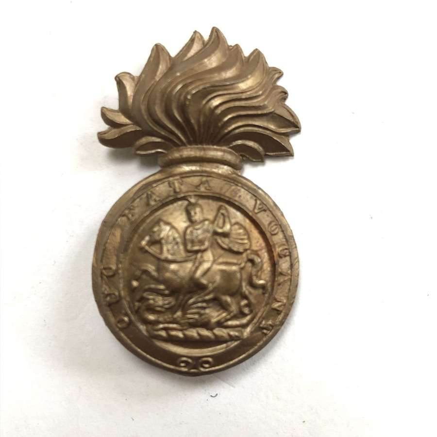 Royal Northumberland Fusiliers WW2 plastic economy cap badge