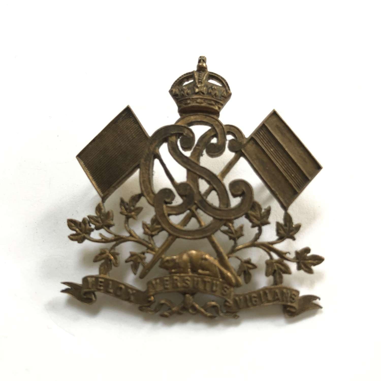 Canadian Signal Corps WW1 cap badge