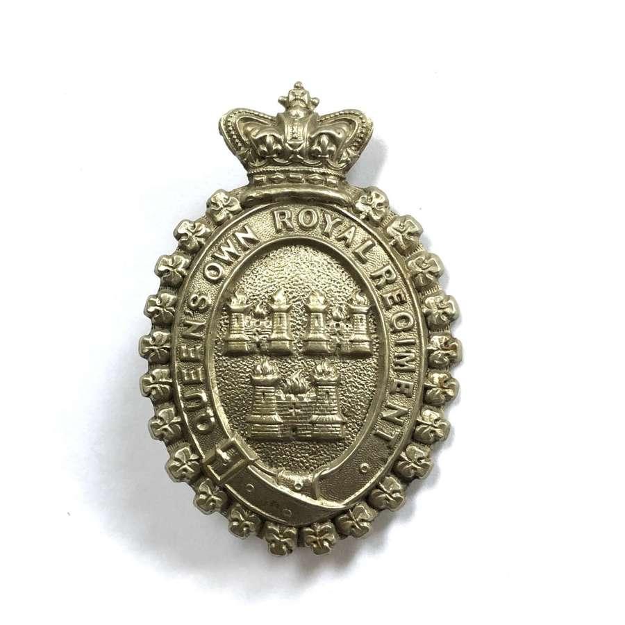 Irish Queen Own Royal Dublin City Militia Victorian glengarry badge