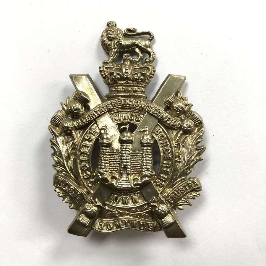 King's Own Scottish Borderers Victorian helmet plate centre