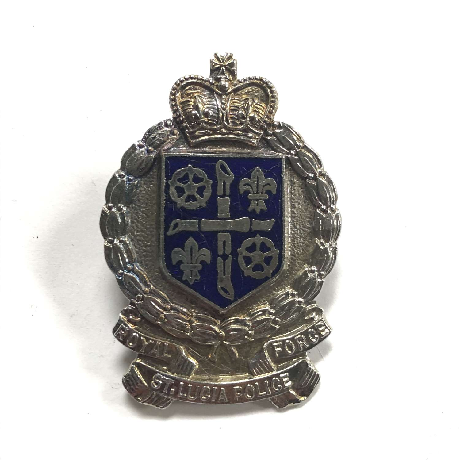 Royal St. Lucia Police Force cap badge
