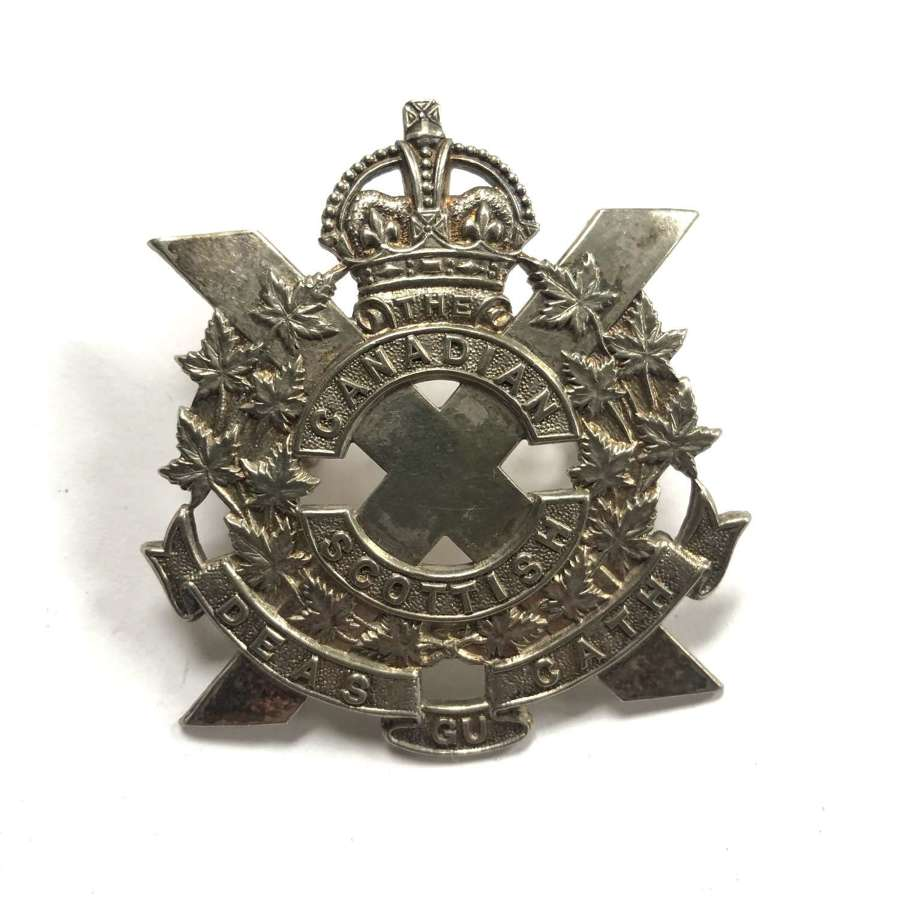 Canadian Scottish pre 1953 Officer's glengarry badge