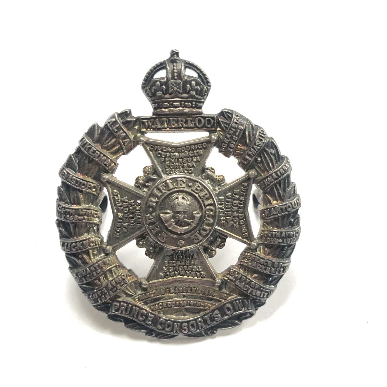 Rifle Brigade WW2 silver Officer's cap badge