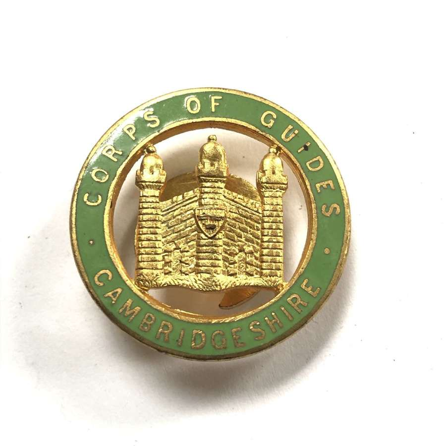 Cambridgeshire Corps of Guides WW1 lapel badge by Bliss
