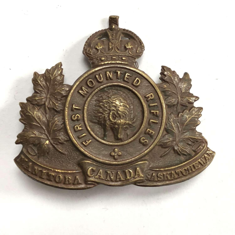 1st Canadian Mounted Rifles WW1 CEF cap badge