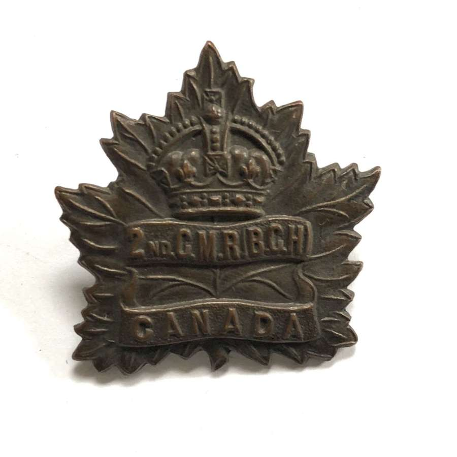 2nd Canadian Mounted Rifles WW1 CEF cap badge by Tiptaft
