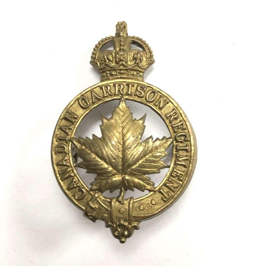 Canadian Garrison Regiment cap badge by Rondeau, Quebec