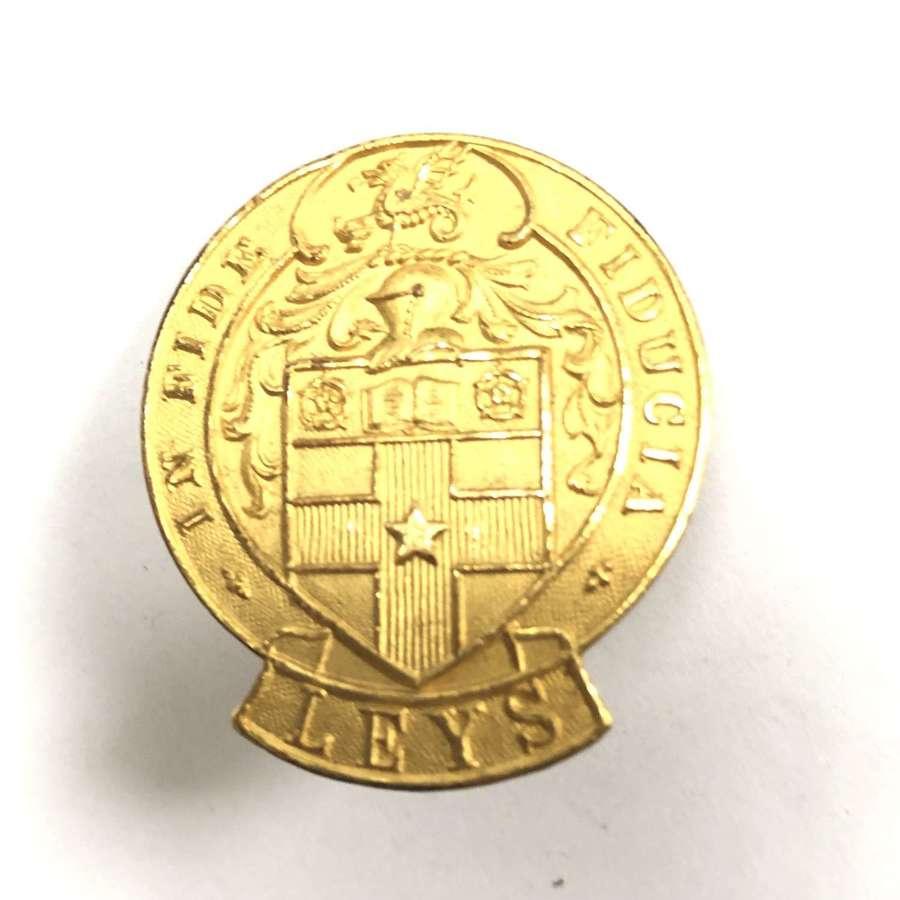 Leys School OTC Cambridgeshire Officer's cap badge by Fattorini
