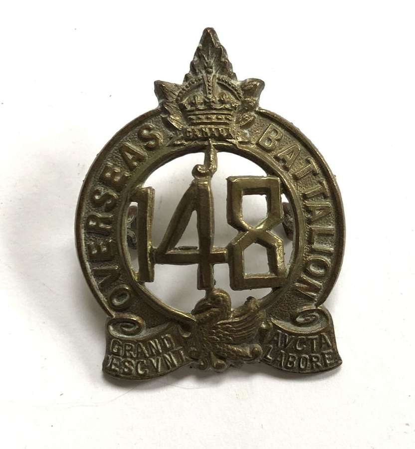 Canadian 148th Bn. CEF cap badge by Tiptaft