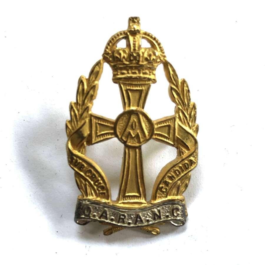 Queen Alexandras Royal Army Nursing Corps QARANC Officer's cap badge