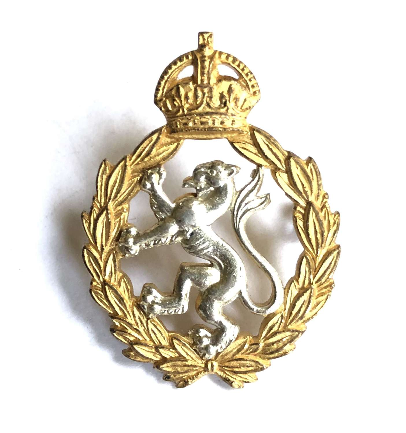 Womens Royal Army Corps WRAC Officer's cap badge by Firmin