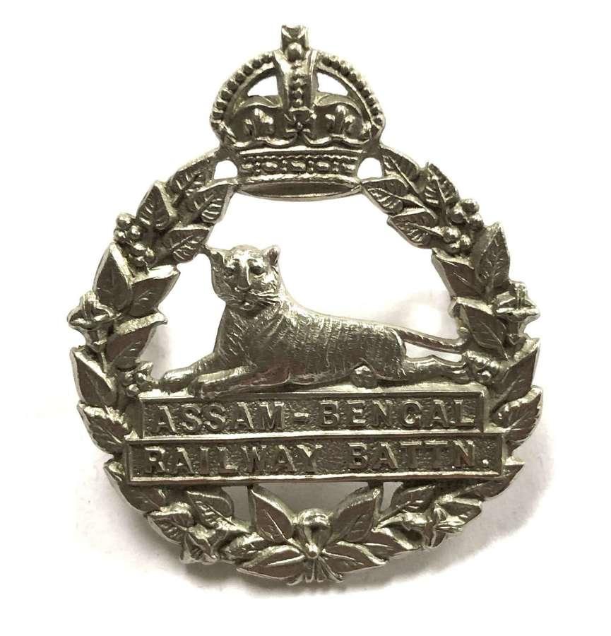 Indian Army. Assam-Bengal Railway Battalion AFI cap badge