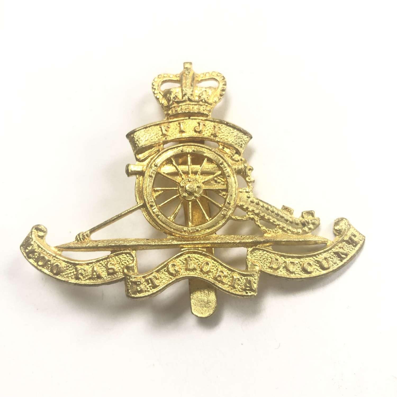 Fiji Volunteer Artillery post 1953 OR's brass cap badge by Dowler