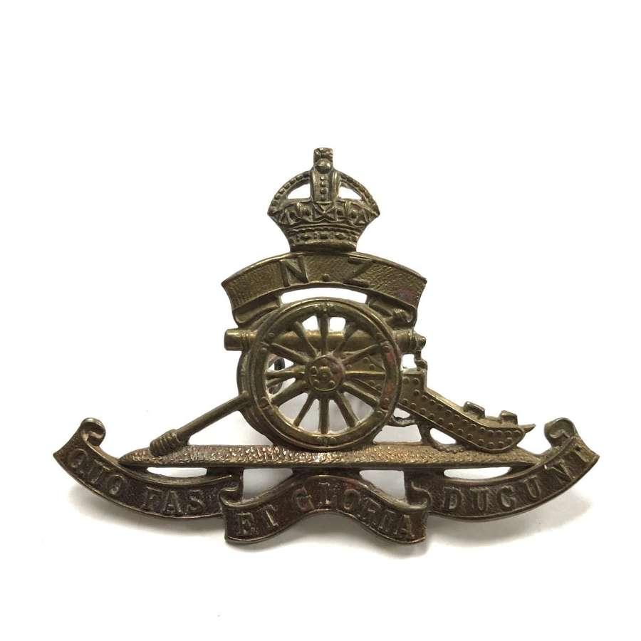 New Zealand Artillery cap badge