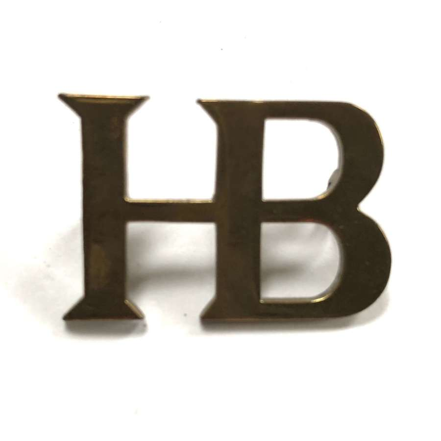 HB WW1 Guards Household Battalion shoulder title circa 1916-18.