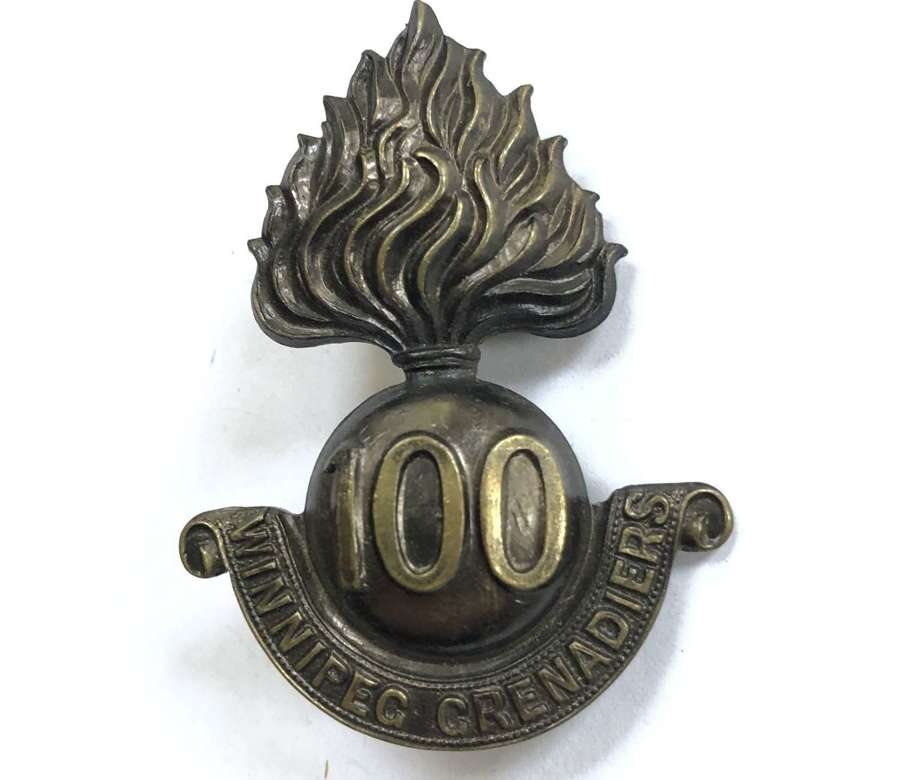 Canada. 100th (Winnipeg Grenadiers) Bn CEF WWI cap badge