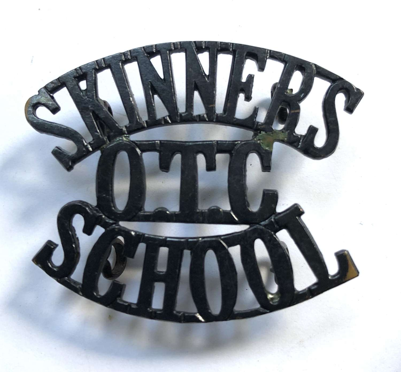 SKINNERS / OTC / SCHOOL Kent post 1908 shoulder title
