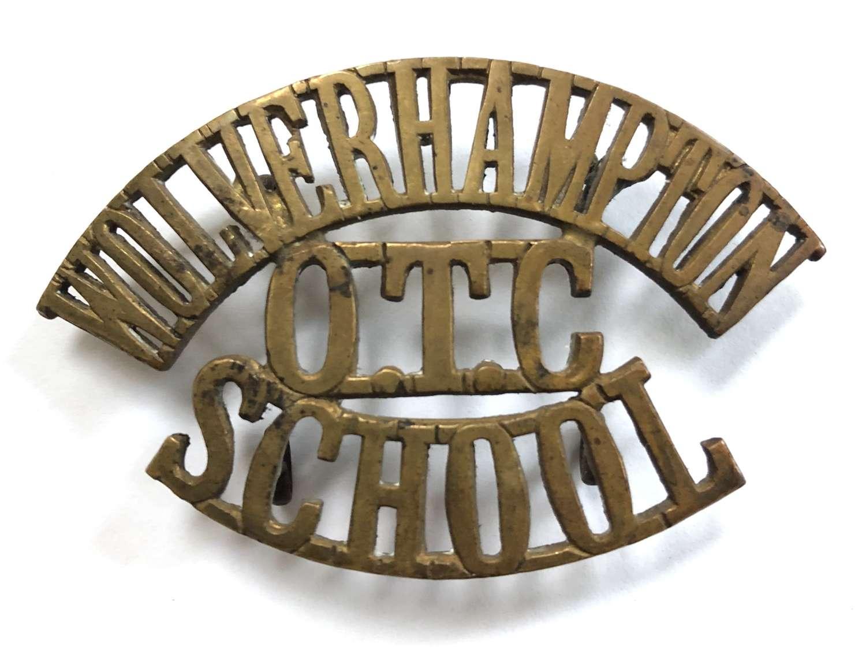 WOLVERHAMPTON / OTC / SCHOOL Staffs shoulder title circa 1908-40