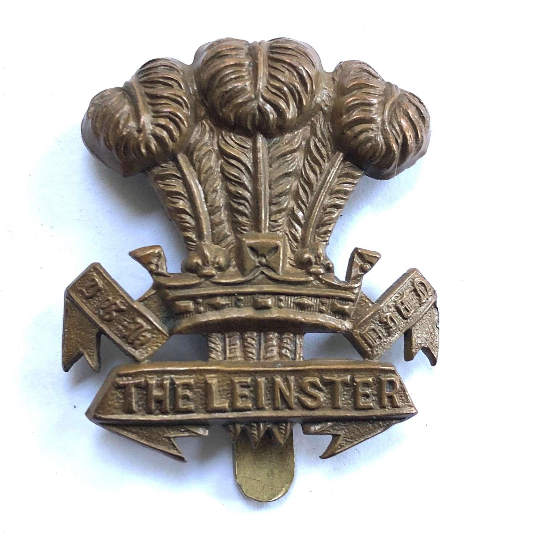 Leinster Regiment WW1 brass economy badge c1916-18 by Lambourne
