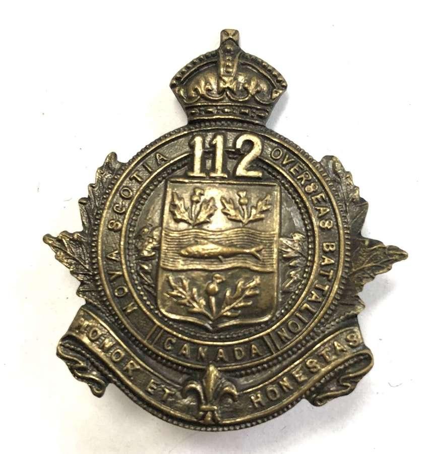 Canadian 112nd Bn. CEF WW1 cap badge
